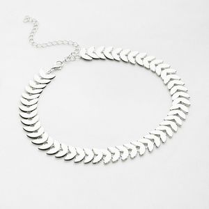 Silver Leaf Shaped Choker